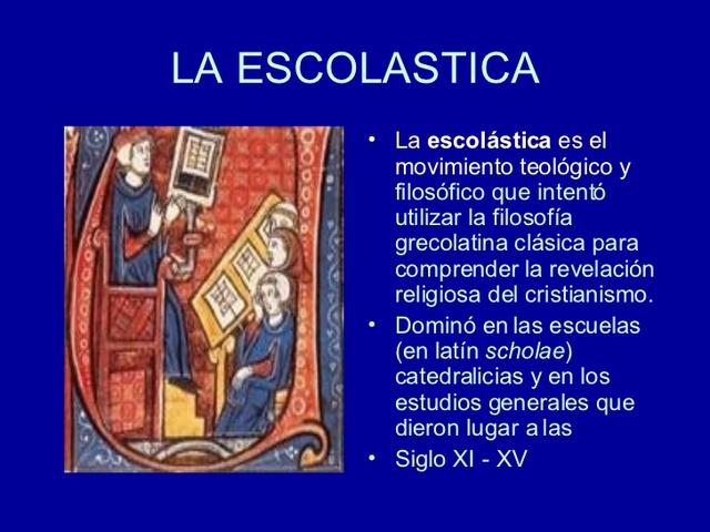 Siglo VI-XV Escolástica, Edad media de la Educación