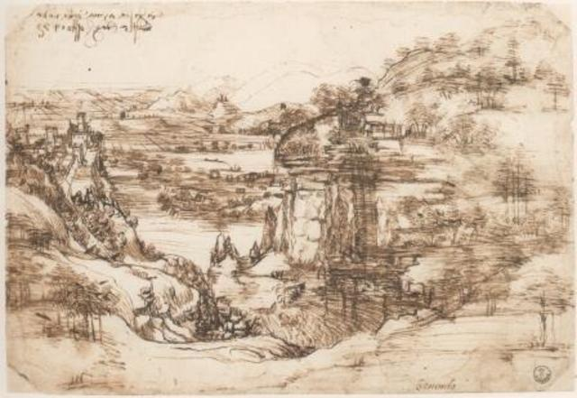Самый ранний образец почерка Леонардо да Винчи