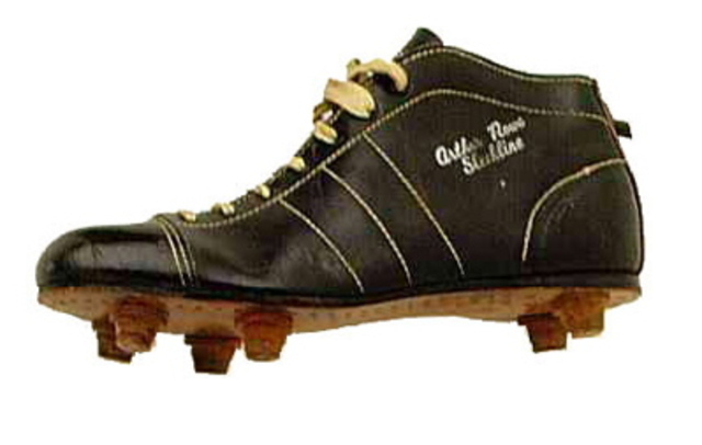 Oldfootball boot in history