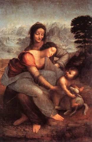 Святая Анна с Мадонной и младенцем Христом.