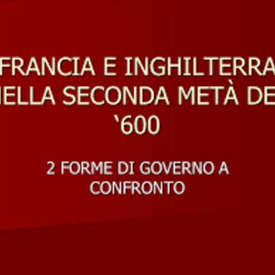 INGHILTERRA E FRANCIA NEL 1600 timeline