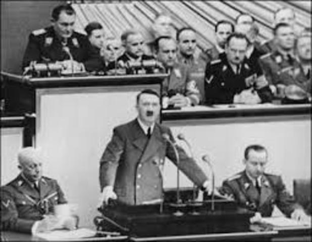 Reichstang Speech