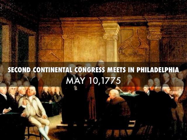 Second continental congress date in Brisbane