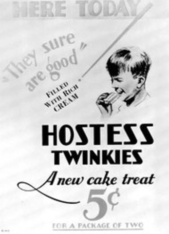 Hostess Twinkies are invented.