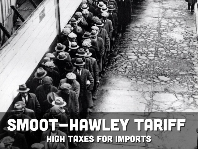 President Hoover signed the Smoot-Hawley Tariff Act into law.
