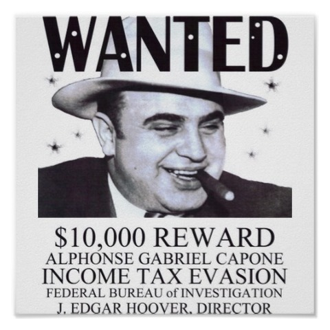 Gangster Al Capone is sentenced to 11 years in prison for tax evasion.