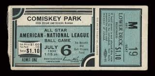 The first Major League Baseball All-Star Game