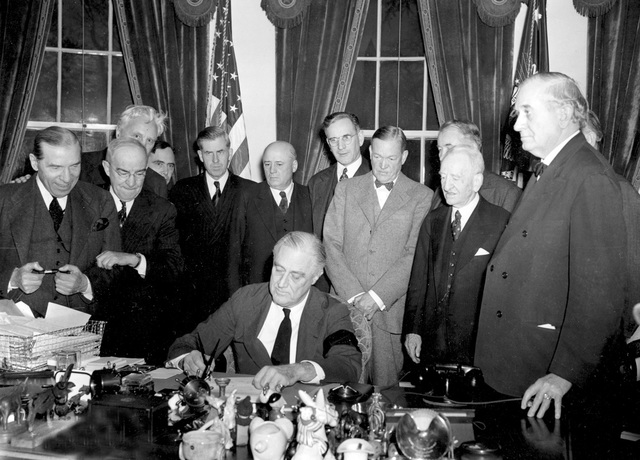 US President Roosevelt signs 2nd Neutrality Act.