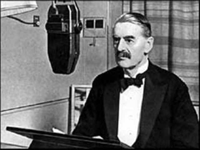 World War 2 - The Prime Minister of Britain, Neville Chamberlain, declares war on Germany