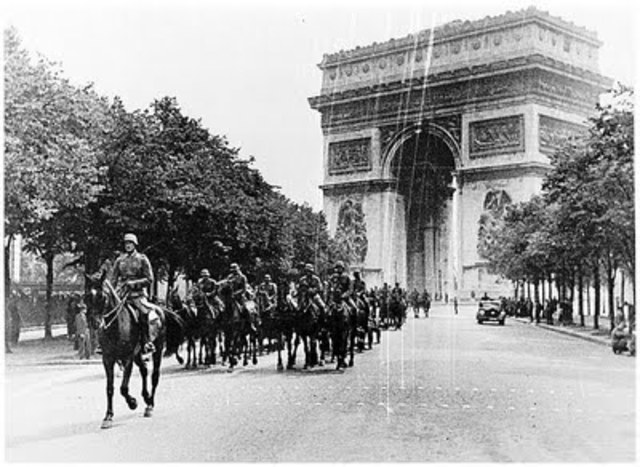 The German army enters France