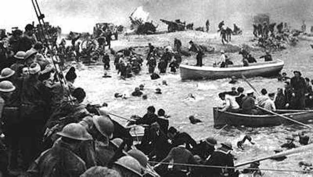 The evacuation of 340,000 soldiers of the British and  French armies from the beaches of Dunkirk.