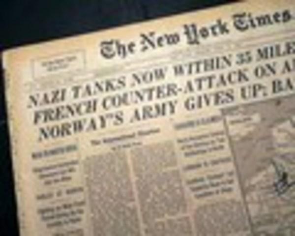 Norway surrenders to the Germans