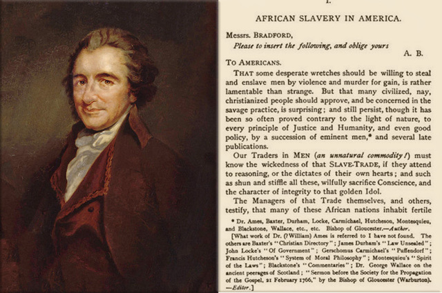 civil rights timeline timelines thomas paine writes essay about slavery