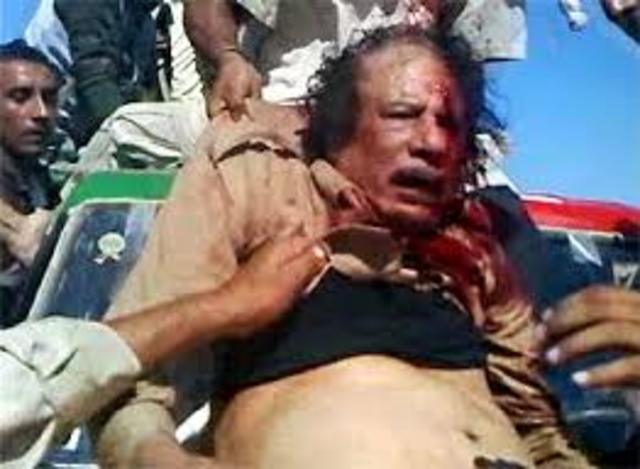 Image result for Gaddafi death