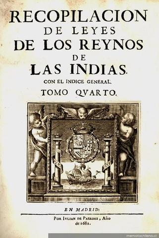 RECOPILACIÓN DE LOS REINOS DE INDIAS