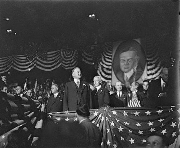 Why did Herbert Hoover run for president?