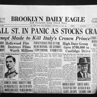 The Great Depression T.Hurd timeline