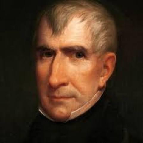 William Henry Harrison elected President