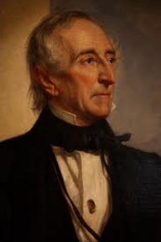 John Tyler assumes office as President