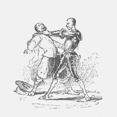 Pelea con Don Quijote