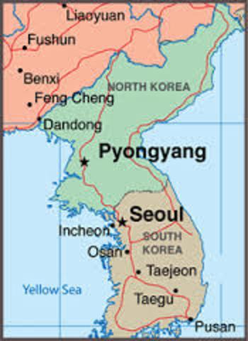 Osan South Korea Map.Korean War Timeline Timetoast Timelines