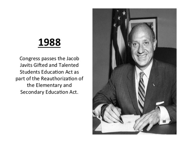 Jacob Javits Gifted and Talented Students Education Act