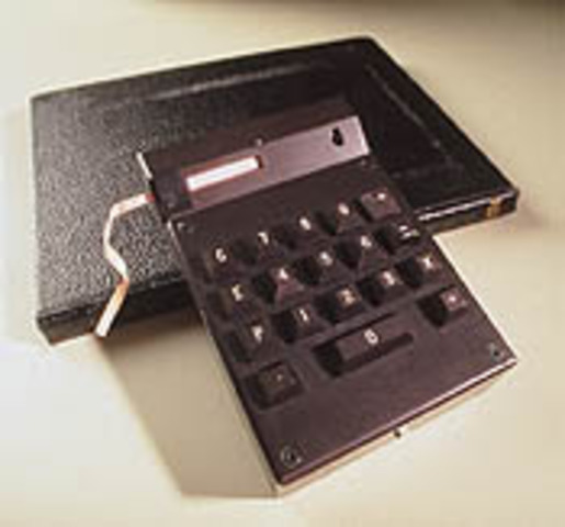 First Hand Held Calculator Invented
