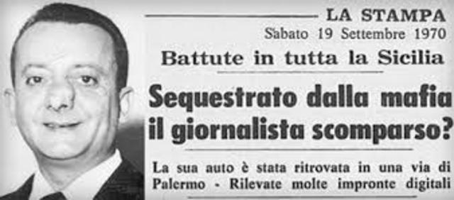 Scompare il giornalista De Mauro