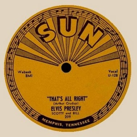 "Elvis Presley releases first ever single ""Thats all Right with Me"""