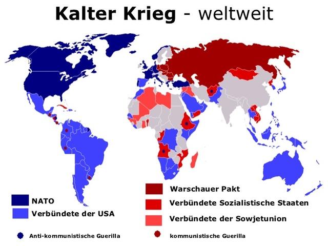 Karte Kalter Krieg