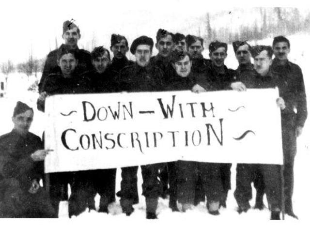 conscription crisis 1917 essay Conscription is the use of state force to directly compel civilians into military   achieving the forces necessary to fight what was by 1917 a relatively  goods  not allocated for government use during a crisis will be reduced 6.
