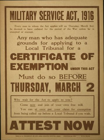 WW1 Conscription Crisis