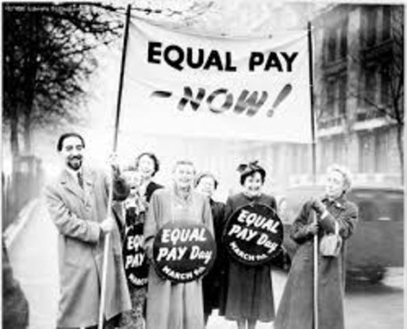 the history of equal pay rights of women in the united states A federal law, the equal pay act (epa), requires employers to pay men and women equally for doing the same work -- equal pay for equal work the equal pay act was passed in 1963 as an amendment to the fair labor standards act and can be found at 29 usc § 206.