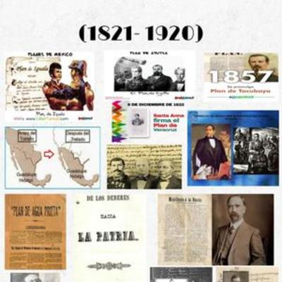 Principales Planes y Tratados de México (1821- 1920) timeline