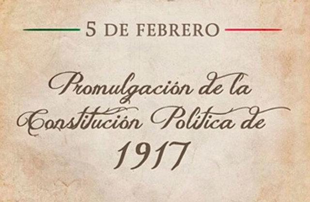 Se promulga la Constitución Mexicana