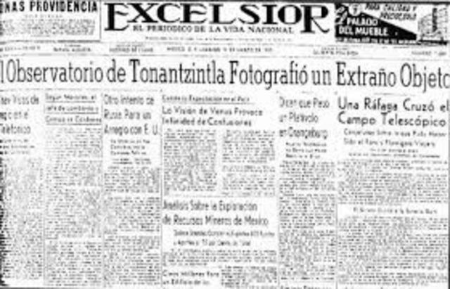 Image result for el periodico excelsior 10 de augusto 1937