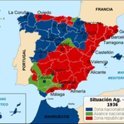 Acontecimientos durante la Guerra Civil española timeline