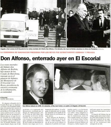 Accidente de Alfonso de Borbón y Battemberg