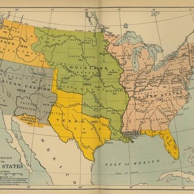 1800's America timeline