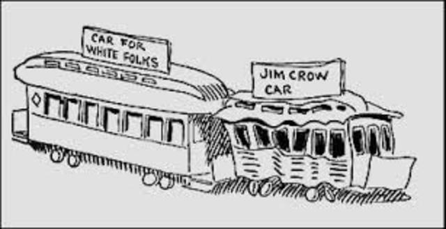 The 7/8 white man Homer Plessy dosen't sit in the Jim Crow car