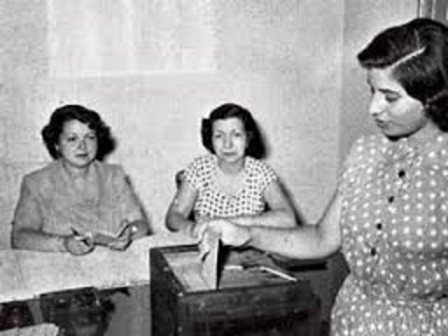 Voto Femenino en México