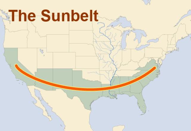TLO Migration Settlement Timeline Timetoast Timelines - Us sunbelt map