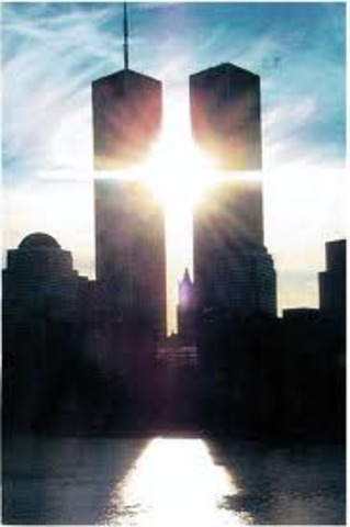 The twin towers crashed.