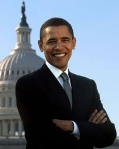 Obama was elected presedent.