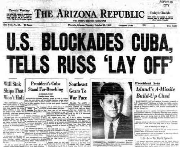 Cuban missile crisis timeline | Timetoast timelines