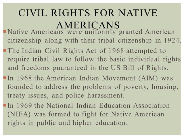 indian civil rights act of 1968 Case opinion for us supreme court duro v reina read the court's full in violation of the equal protection guarantees of the indian civil rights act of 1968.