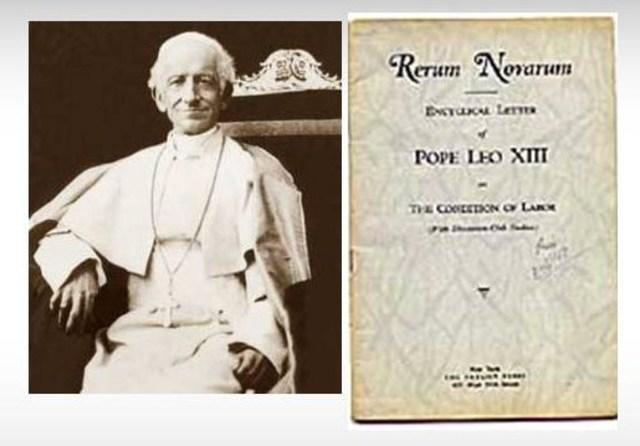 """Rerum novarum"" por  Papa Leon XIII"