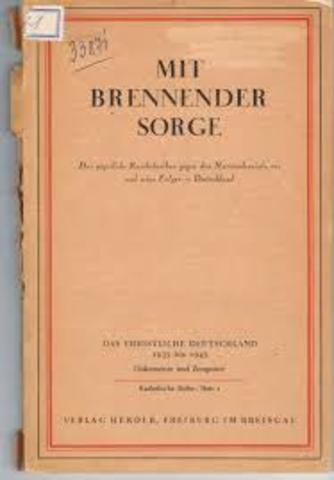 """Mit brennender Sorge"": Papa Pío XI"