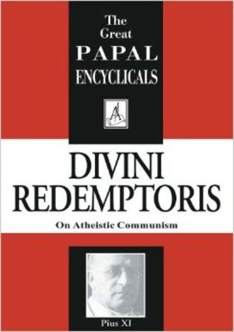 """Divini Redemptoris"": Papa Pío XI"