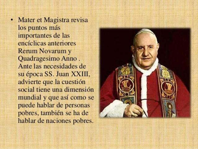 """Mater et magistra"": Papa Juan XXIII"